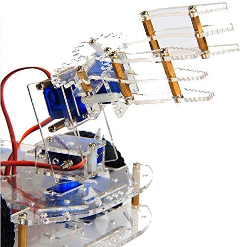 ILS – 4 DOF – acryl – set met 3D-arm rotatiemachine + P0090 Servo DIY