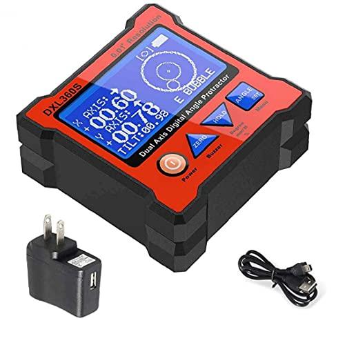 NIVEL DE PROPLETOR DIGITAL DXL360S Caja de nivel de doble eje LCD Pantalla Inclinómetro Finder