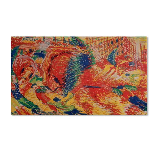 The City Rises 1911 Artwork by Umberto Boccioni, 18 by 32-Inch Canvas Wall Art