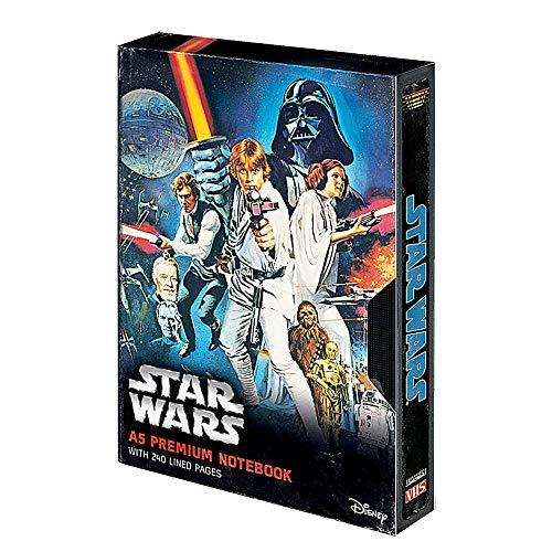 Cuaderno de notas con tapa dura de Star Wars A New Hope A5 VHS Premium