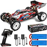 Wltoys 104001 1/10 RC Car with 2 Battery 2 Charger,45 Km/h High Speed 4WD Large RC Buggy Cars, 2.4GHz Off-Road RC Truck,All Terrain Crawler for Adults Boys Kid(RTR)