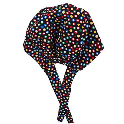 KESYOO Gorro Quirúrgico Ajustable Algodón Colorido con Estampado de Lunares Gorro de Matorral con Banda para El Sudor Gorro de Cirugía Médica para Médico Enfermera (Negro)
