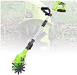 YIHGJJYP Rotavator Cordless, Motozappa Elettrica Portatile 20V con Batteria Ricaricabile e...