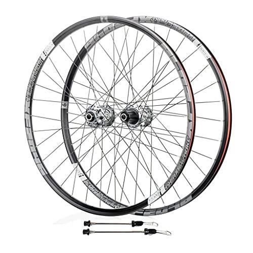 TYXTYX Juego de Ruedas de Bicicleta MTB de 26 Pulgadas y 27,5 Pulgadas, aleación de Aluminio de liberación rápida híbrido/Soporte de Freno de Disco de Bicicleta de montaña 8/9/10/11 Ruedas de Vel