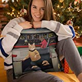 "Star Trek: The Original Series Kirk's Chair Cat Pillow - 16"" x 16"""