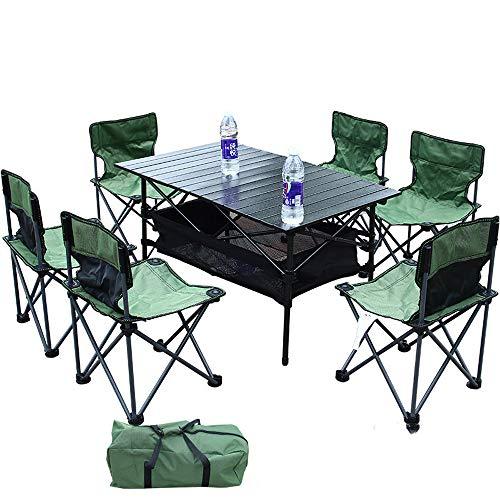 Ensemble Table et chaises Pliantes 4 Personnes 6 Personnes Table et chaises Pliantes pour Plusieurs Personnes, Barbecue, équipement de Conduite Autonome pour Le Camping, Chaise 6X, Table 1X