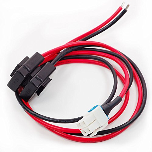 AEcreative 4-pin 12AWG DC Power Supply Cable for Yaesu Radio FT-450D FT-891 FT-991-A FTDX-1200 Kenwood TS-480SAT TS-590SG TS-890s Ts-480-SAT Icom IC-7000 IC-7200 IC-7600 IC-7300 Alinco DX-SR9T Vertex