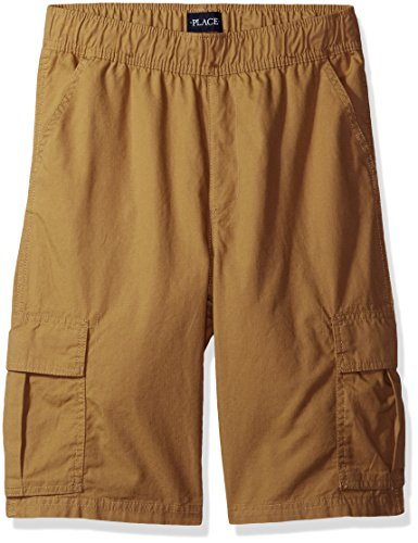 The Children's Place Big Boys' Pull-on Cargo Shorts, Flax, 8