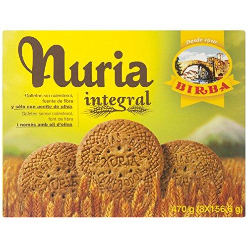 Birba Nuria Galletas Integrales, Ricas en Fibra, 470g