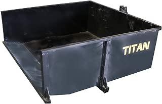 Titan Distributors Inc. Category 1 3-Point Hitch Dump Box 30 Cubic Feet Carry Landscaping Wood Dirt Tools