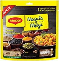 MAGGI Masala-ae-Magic Vegetable Masala, 72g Pouch (6g x 12 Sachets) | All in One Masala for Dry Vegetables, Paneer, Dal...