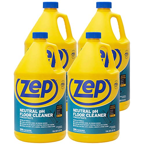 Zep Neutral pH Floor Cleaner 1 Gallon (Case of 4) ZUNEUT128 - Concentrated Pro Trusted All-Purpose Floor Cleaner