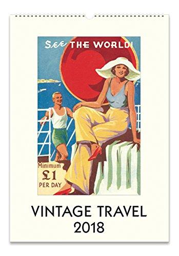 Cavallini Papers 2018 Vintage Travel Wall Calendar