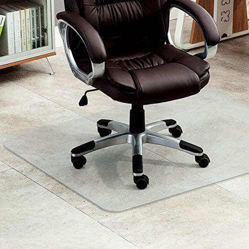 CHAIRLIN Bodenschutzmatte Polycarbonat Büromatten transparente Bürostuhlunterlage Stuhlmatte für Hartböden Laminat, Parkett und Fliesen, rutschfest, 90 x 120 cm
