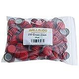 Balliihoo® Pack of 250 Crown Bottle Caps - Red
