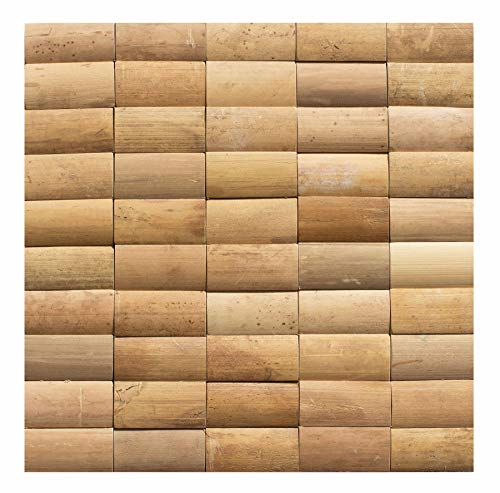 Bambus - Wand-Design - BM-003 - Mosaikfliesen Wand-Verblender Holz-Design Bamboo-Mosaic Bamboo-Design - Fliesen Lager Verkauf Stein-mosaik Herne NRW
