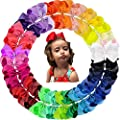 Oaoleer 30 Colors 4 Inch Hair Bows Clips Grosgrain Ribbon Bows Hair Alligator Clips Hair Barrettes Hair Accessories for Girls Toddler Infants Kids Teens Children
