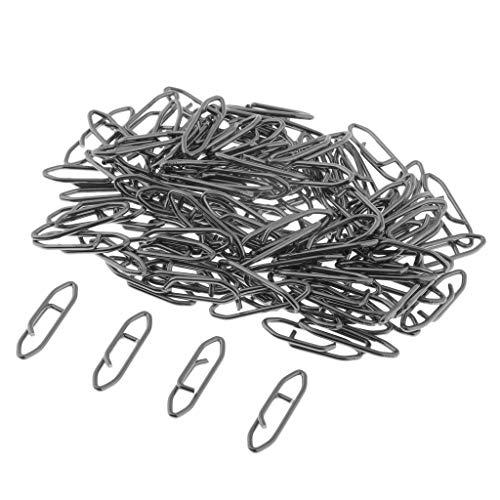perfk 100 Stück Karabiner Zum Spinnangeln auf Hecht & Zander, Einhänger Zum Spinnfischen, Snaps Zum Raubfischangeln - 1,8x0,6 cm