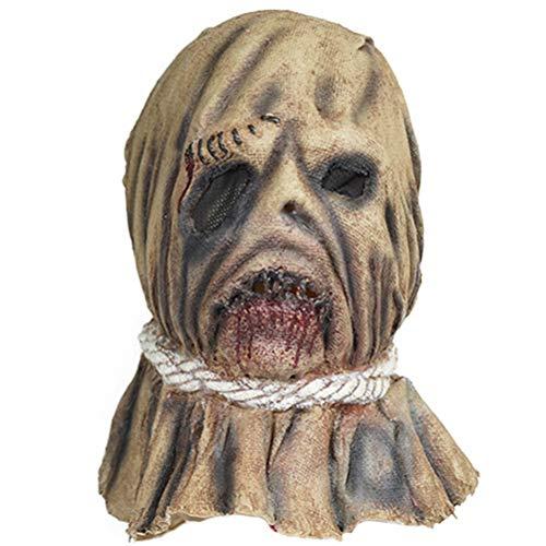 (2020 NEU) Halloween Mask Dekorationen, Halloween Vogelscheuche Vollkopfmaske für Erwachsene Horror Kopfmaske für Karneval Party Kostüm Requisiten