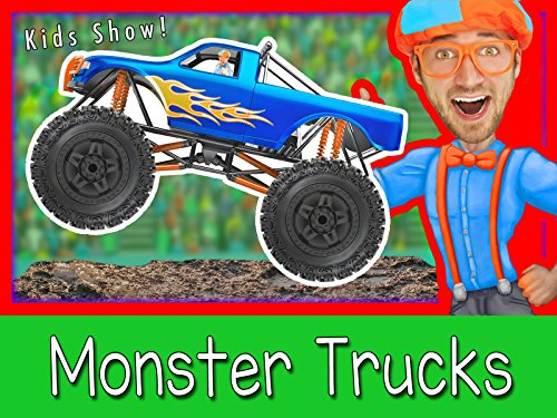 Explore A Monster Truck with Blippi - Monster Trucks for Kids