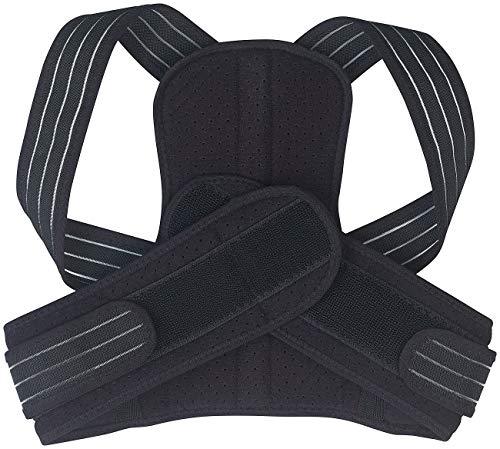 Newgen Medicals Rückenhalter: Geradehalter zur Haltungs-Korrektur für Schultern und Rücken, Größe M (Rückentrainer)