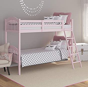Stork Craft Pink Long Horn Twin Bunk Bed