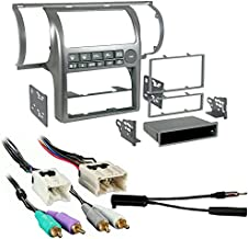 Metra 99-7604 Silver Dash Kit + Harness + Antenna Adapter for 03-04 Infiniti G35