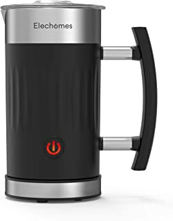 Elechomes Milk Frother, 5 in 1 Electric Milk Steamer with Hot & Cold Milk Functionality, 10.1oz Foam Maker for Coffee, Hot...