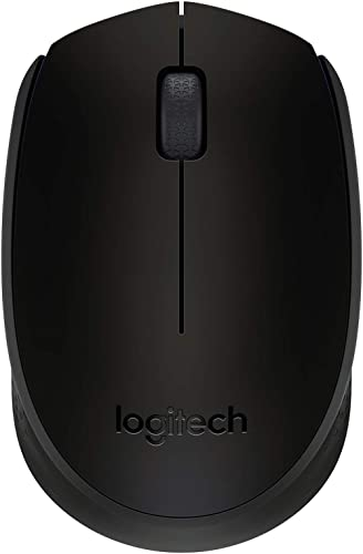Logitech B170 Wireless Mouse, 2.4 GHz with USB Nano Receiver, Optical Tracking, 12-Months Battery Life, Ambidextrous,...