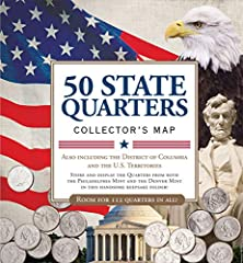 50 State Commemorative Quarters Collector s Map includes both mints