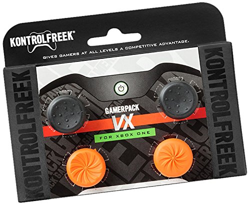 KontrolFreek GamerPack VX for Xbox One Controller   Performance Thumbsticks   3 High-Rise, 1 Mid-Rise Concave   Black/Orange