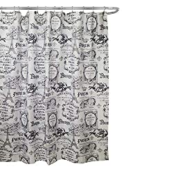 Another Black And White Option Manual Woodwork Offers This Shower Curtain Featuring A Fleur De Lis Over The Eiffel Tower Custom Printed Can
