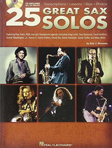 25 Great Sax Solos. Partituras, CD para Saxofón, Saxofón