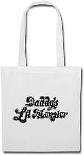 Spreadshirt Harley Quinn Daddy's Lil Monster Stoffbeutel