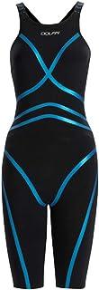DOLFIN Women's Lightstrike Black Tight Leg Long Closed Back Swimsuit