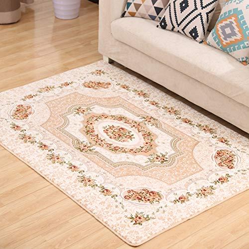 JIADT tapijt 130Cm*190Cm nieuwe merk rustieke kamer matten, elegante mediterrane rozen slaapkamer tapijt, moderne grote tapijten