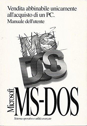 Microsoft MS-DOS versione 6.22 Manuale dell'utente