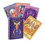 GOLDEN MANGO 44Pcs / Set Tarjetas De Tarot, Tarjetas Tarot Crystal Angel Oracle Tarot Deck con Hermosa Pintura para Familia, Fiesta Y Entretenimiento Tarjetas Tarot