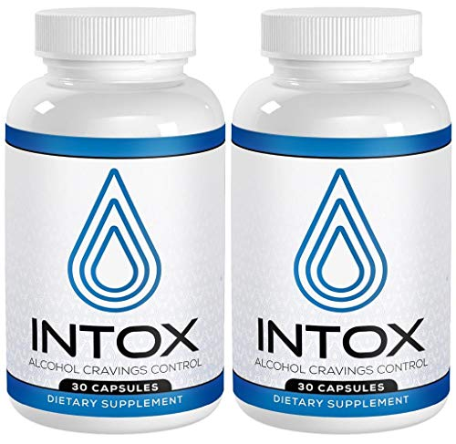 [2 Pack] INTOX Anti-Alcohol and Alcohol Support Supplement with 10 X Faster Absorption Than Liquids Help Reduce Alcohol Cravings with a Proprietary Liver Detox Vitamin Natural Kudzu Formula.