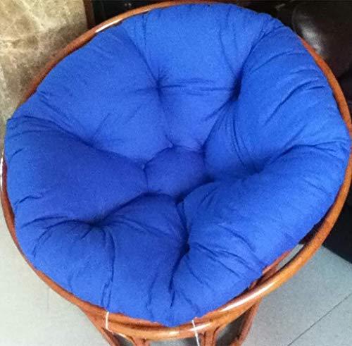 ZXL Ei stoel stoel kussen, ronde schommelstoel kussen, pluizig katoen rieten opknoping Ei stoel kussens pad Patio tuin binnen-royal blauw 120x120cm (47x47inch)
