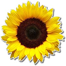 Sunflower Sticker Golden Yellow Flower Cup Cooler Laptop Car Window Bumper Decal
