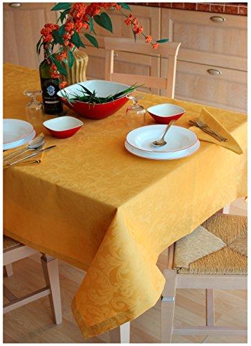 Trama Toscana Tovaglia Fiandra Rotonda cm 180 con 8 Tovaglioli cm 40x40 Cotone 100% in 10 Colori