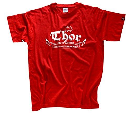 shirtZShop Homme Thor au Lieu de Petrus Protection Climatique en Allemagne T-Shirt XL Rot