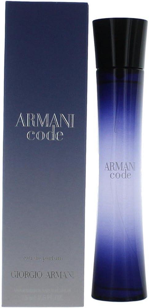 Giorgio armani code,  eau de parfum per donna ,75 ml 2501097