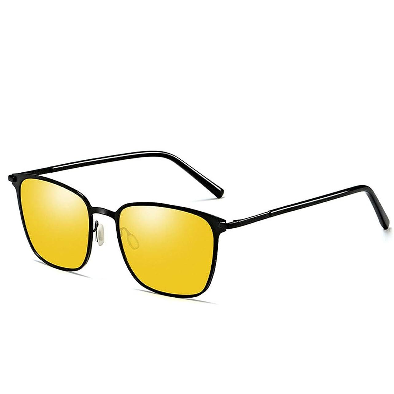 悪意のある冷笑するできたDiffomatealliance Glasses メガネファクトリーメンズファッションUV400スクエアフレーム偏光サングラス(ゴールド&ブラック+グレー)