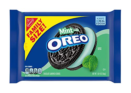 OREO Mint Flavored Creme Chocolate Sandwich Cookies, Family Size, 20 oz