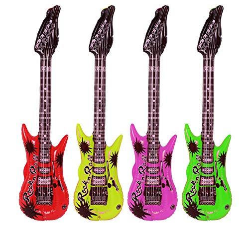 EUROCARNAVALES Guitarra Hinchable en Colores Surtidos de 88 cm