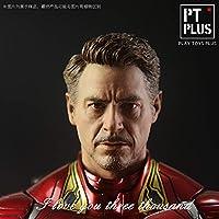 「AC」GT Plus 1/6 映画 キャラクター アイアンマン トニー アクションフィギュア用 ヘッド