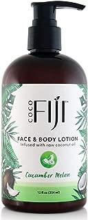 Coco Fiji, Coconut Oil Infused Face & Body Lotion, Cucumber Melon 12oz