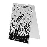 Everpert 1pc Musiknote Kunststoff Prägung Ordner Vorlage für Scrapbook DIY Album -